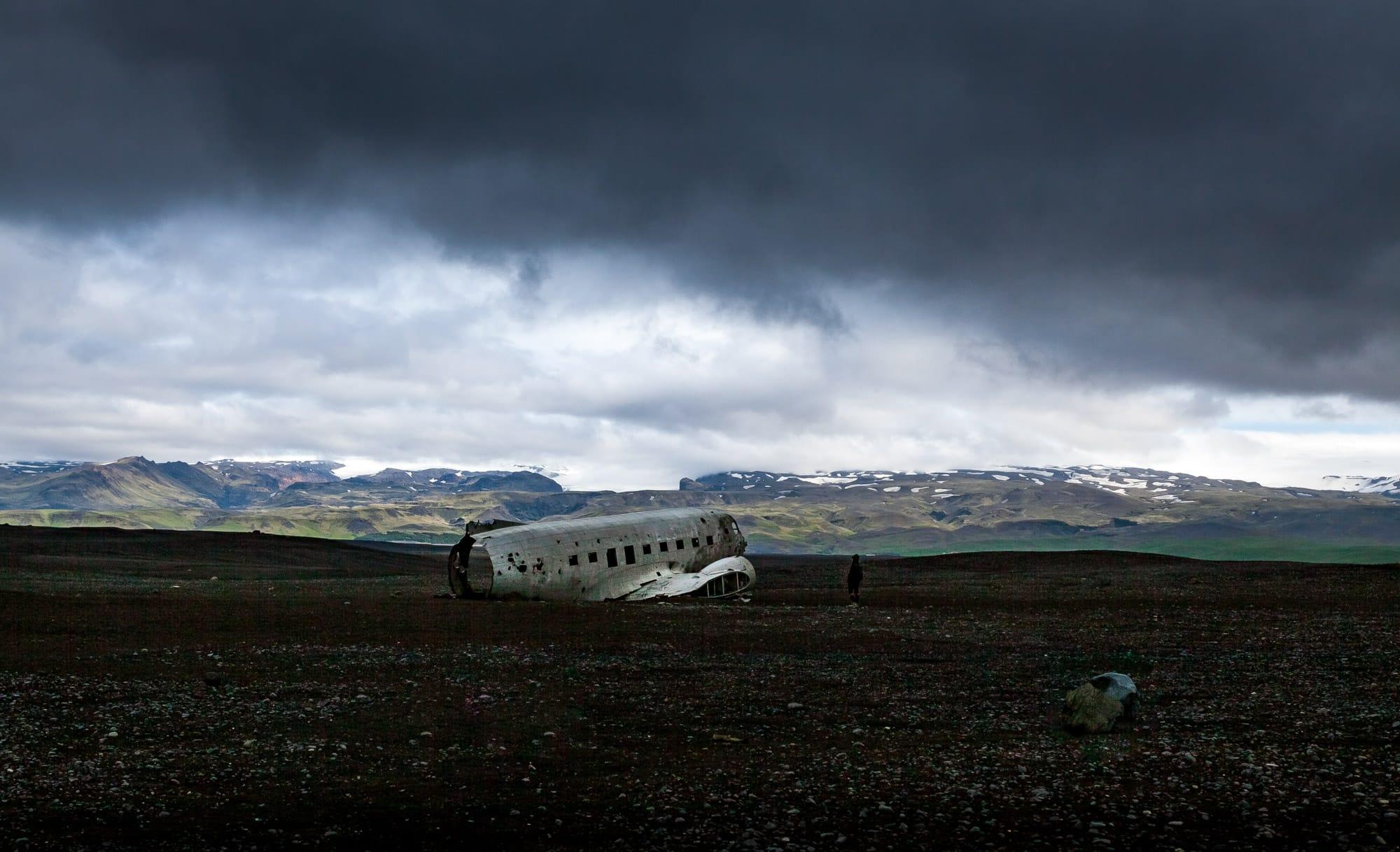 Karte Island Flugzeugwrack.Island Flugzeugwrack Douglas Super Dc 3