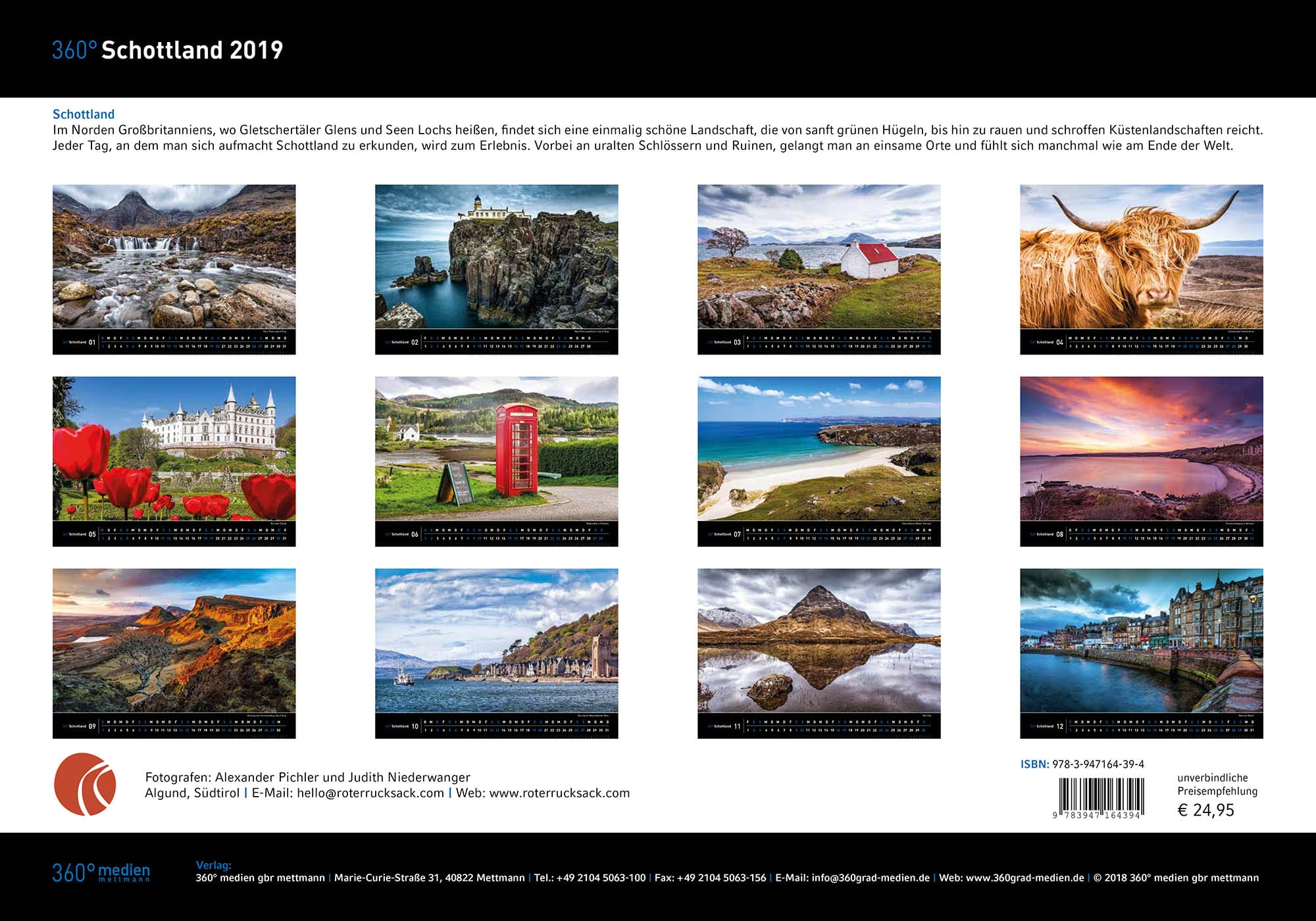 schottland kalender 2019 reisen wandern fotografieren. Black Bedroom Furniture Sets. Home Design Ideas