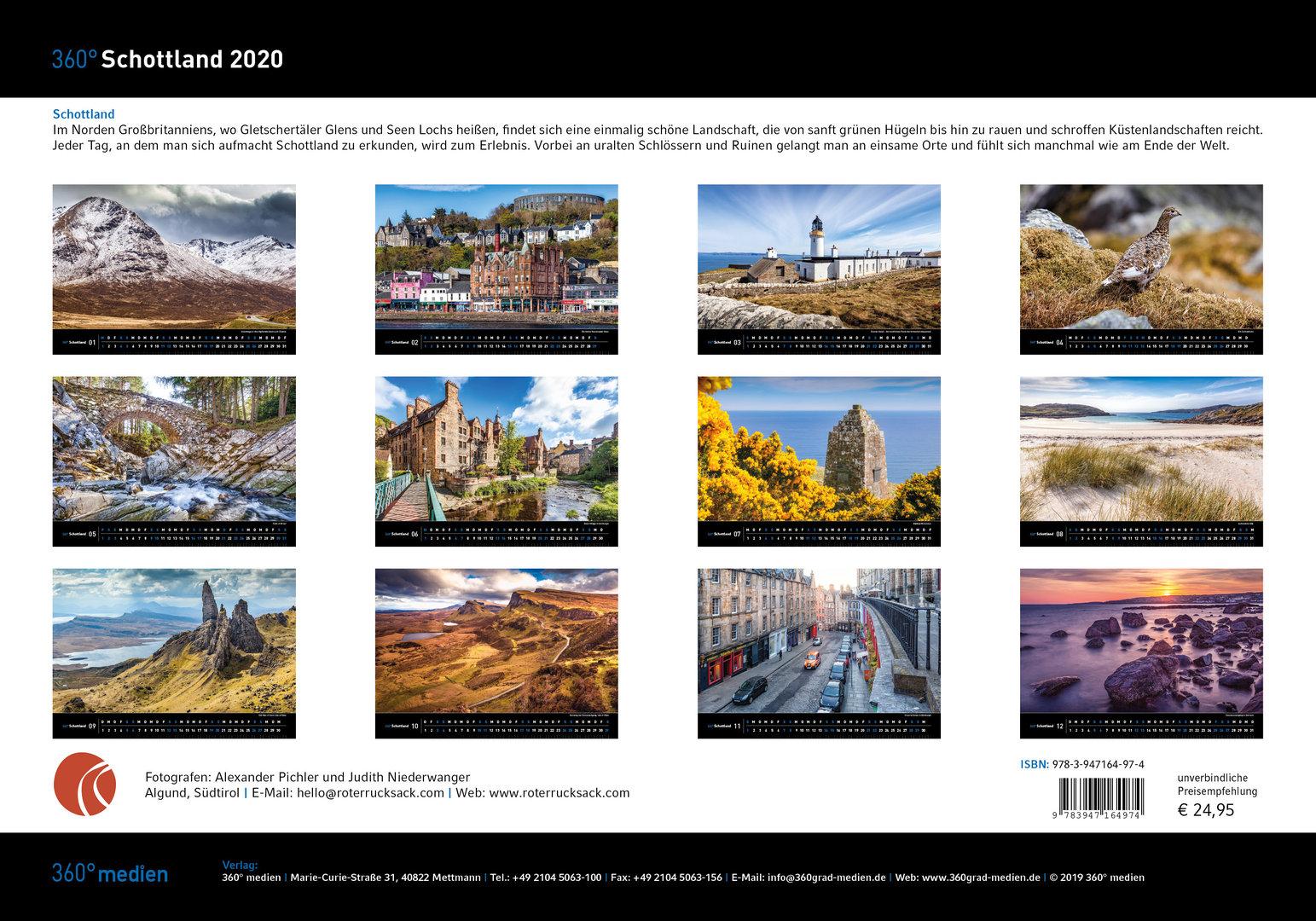 Schottland Kalender 2020
