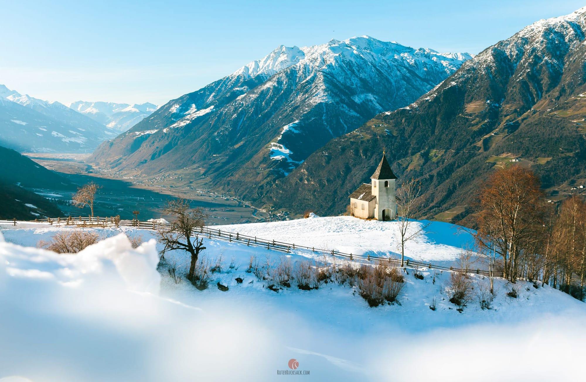 Von Aschbach auf das Vigiljoch – Schneeschuhwanderung und die Südtirol Box